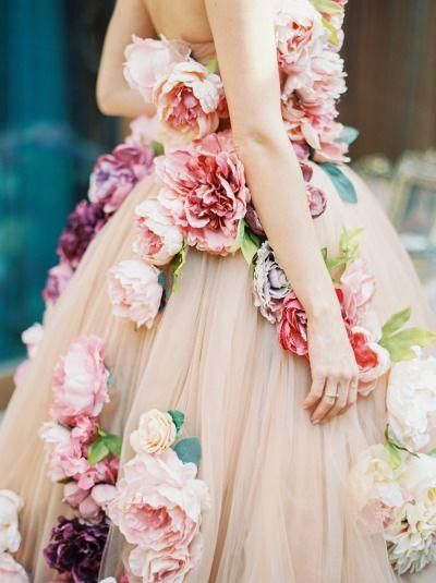 Floral & Colorful Bridesmaids Dress